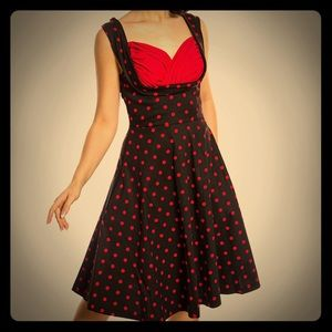 Dresses & Skirts - Black and Red 1950s Inspired Swing Dress